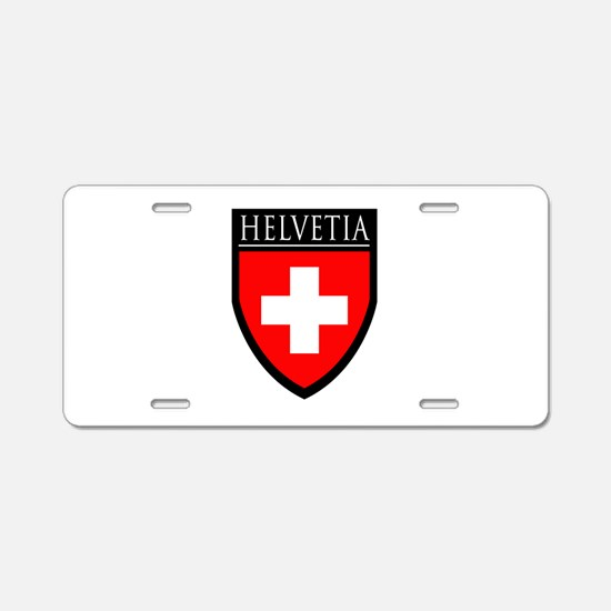 Swiss (HELVETIA) Patch Aluminum License Plate