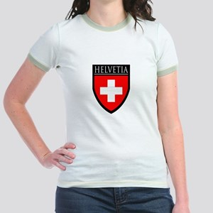 Swiss (HELVETIA) Patch Jr. Ringer T-Shirt