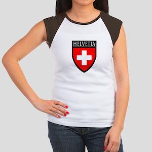 Swiss (HELVETIA) Patch Women's Cap Sleeve T-Shirt