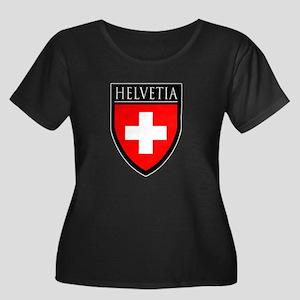 Swiss (HELVETIA) Patch Women's Plus Size Scoop Nec