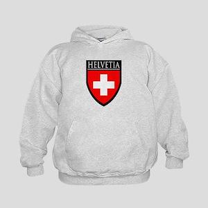 Swiss (HELVETIA) Patch Kids Hoodie