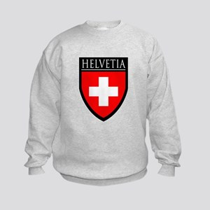 Swiss (HELVETIA) Patch Kids Sweatshirt