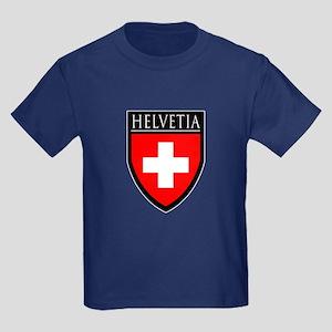 Swiss (HELVETIA) Patch Kids Dark T-Shirt