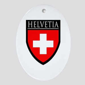 Swiss (HELVETIA) Patch Ornament (Oval)