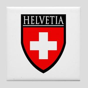 Swiss (HELVETIA) Patch Tile Coaster