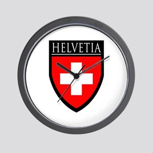 Swiss (HELVETIA) Patch Wall Clock