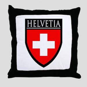Swiss (HELVETIA) Patch Throw Pillow