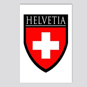 Swiss (HELVETIA) Patch Postcards (Package of 8)