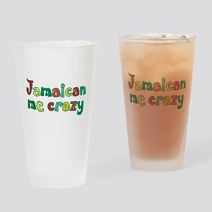 Jamaican Me Crazy Drinking Glass