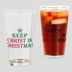 Keep Christ star Drinking Glass