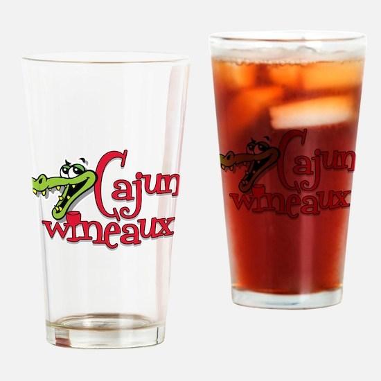 Cajun Wineaux gator Pint Glass
