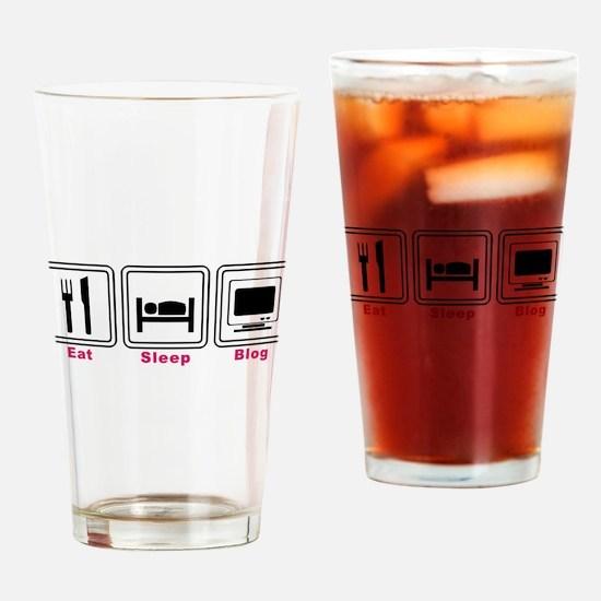 Eat Sleep Blog Pint Glass