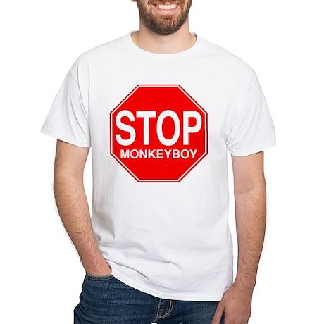 Stop Monkeyboy White T-Shirt