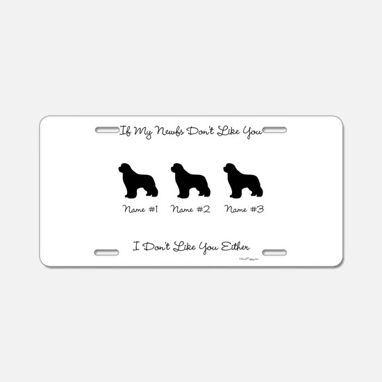 3 Newfoundlands Aluminum License Plate