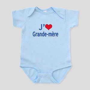 I Love Grandma (French) Infant Bodysuit