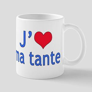 I Love Aunt (French) Mug