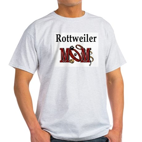 Rottweiler Mom Ash Grey T-Shirt