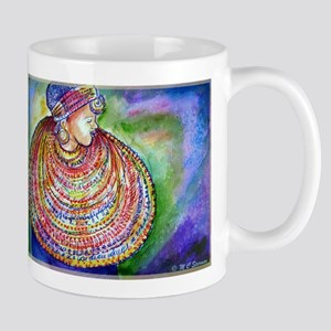 African Lady, Colorful, art, Mug