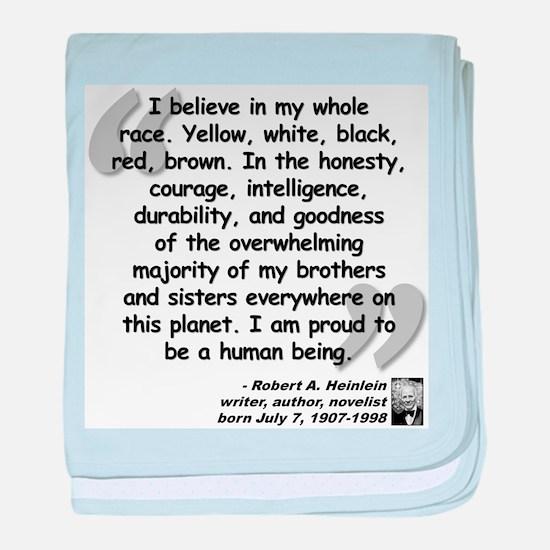 Heinlein Believe Quote baby blanket