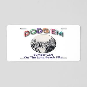 Dodg'em Bumper Cars Aluminum License Plate
