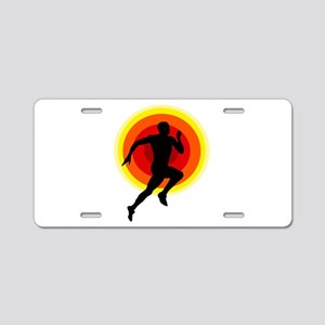 Runner Aluminum License Plate
