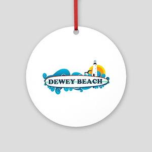 Dewey Beach DE -Surf Design Ornament (Round)