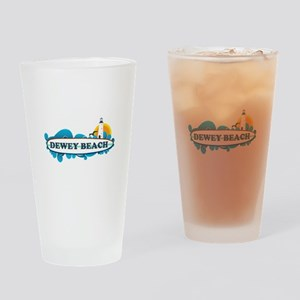 Dewey Beach DE -Surf Design Pint Glass