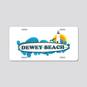 Dewey Beach DE -Surf Design Aluminum License Plate