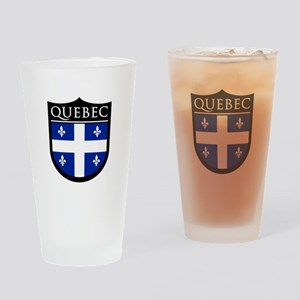 Quebec Flag Patch Pint Glass