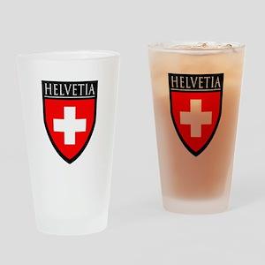 Swiss (HELVETIA) Patch Pint Glass