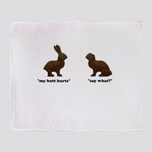 Chocolate Bunnies Throw Blanket