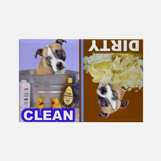 Pit Bull Terrier (Tan,Blk,White) Rectangle Magnet