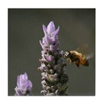 Bee and  Lavender - 1 -Tile Coaster
