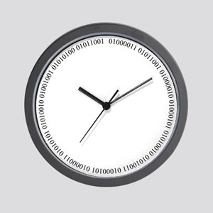 Cyber Security Ring Black Wall Clock