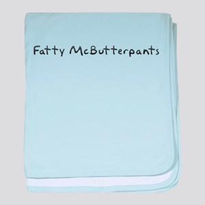Fatty McButterpants baby blanket
