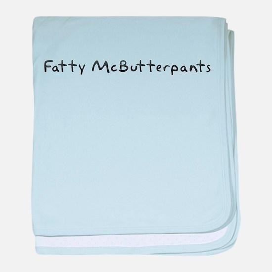 Fatty McButterpants baby blanket