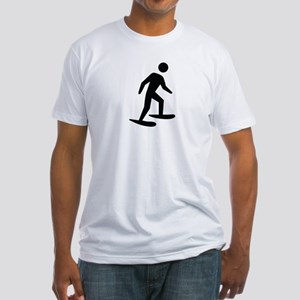 Snow Shoeing Image Fitted T-Shirt