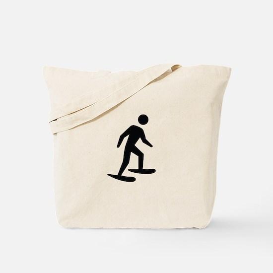 Snow Shoeing Image Tote Bag
