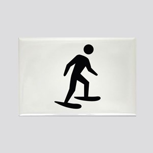 Snow Shoeing Image Rectangle Magnet