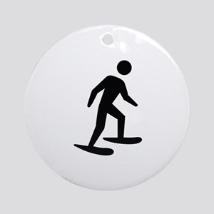 Snow Shoeing Image Ornament (Round)