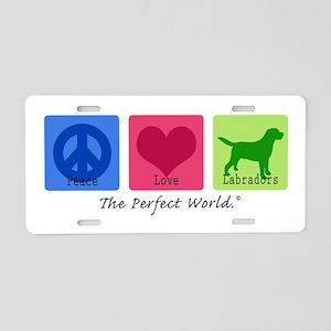 Peace Love Labs Aluminum License Plate