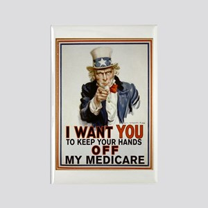 Congress, Don't Touch Medicare Rectangle Magnet