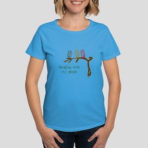 Hanging With My Peeps Women's Dark T-Shirt