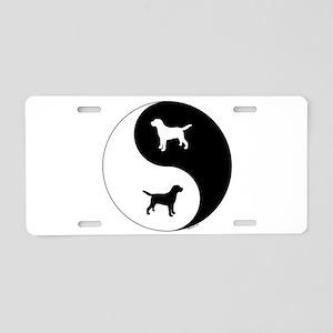 Yin Yang Lab Aluminum License Plate