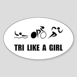 Tri like A Girl Black Sticker
