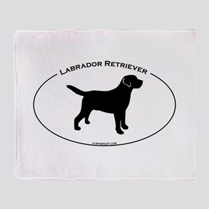 Labrador Oval Text Throw Blanket