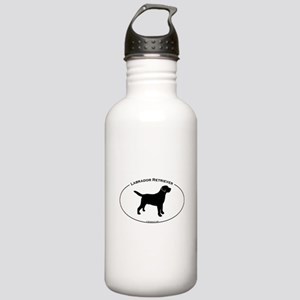 Labrador Oval Text Stainless Water Bottle 1.0L