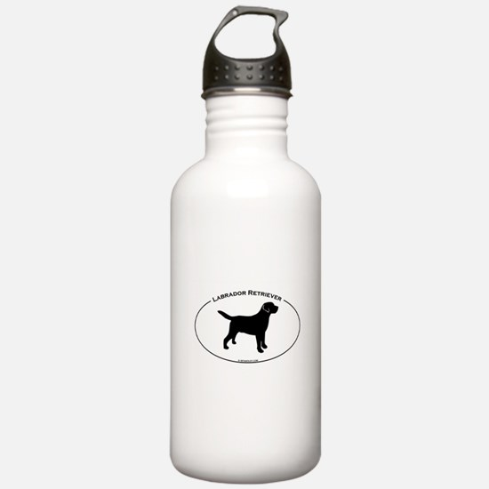 Labrador Oval Text Water Bottle