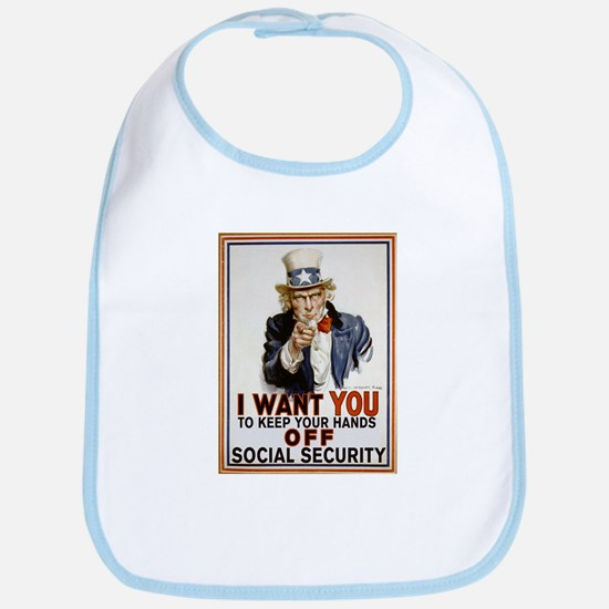 Don't Touch Social Security Bib