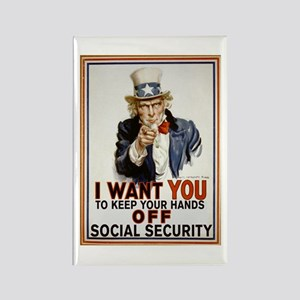 Don't Touch Social Security Rectangle Magnet